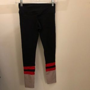 Splits 59 black red blush legging, sz xs, 71508